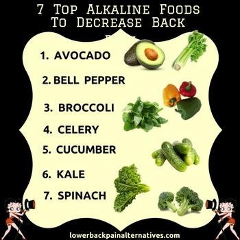 7 Top Alkaline Foods To Decrease Back Pain