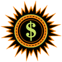 Sun with dollar sign in middle