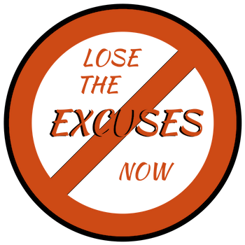 warning sign about excuses